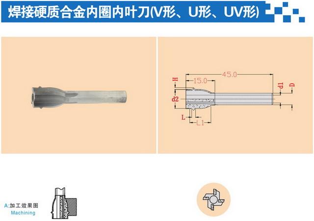 焊接硬质合金内圈内叶刀(U形、