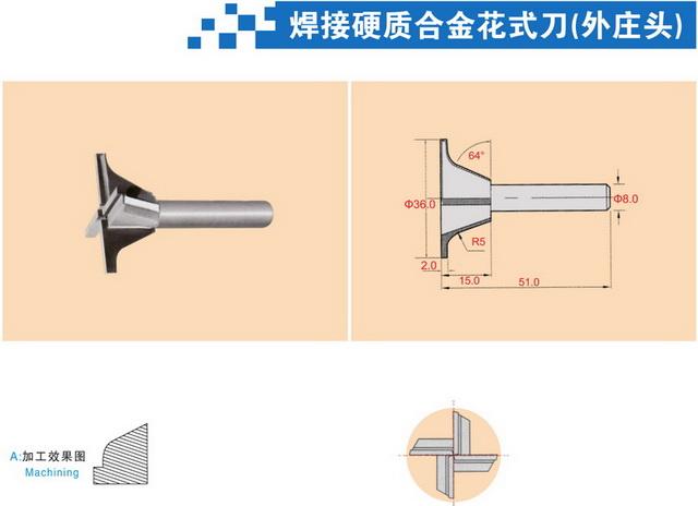 焊接硬质合金花式刀1(外庄头